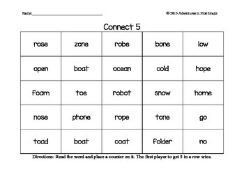 Long Vowel Connect 5