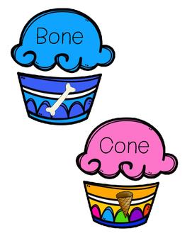 Long Vowel Cupcake Match