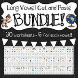 Long Vowel Cut and Paste BUNDLE!  (Long A, E, I, O, U)