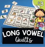Long Vowel Cut and Paste Quilts - Vowel Teams - Magic E Wo