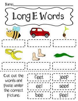 Long Vowel Cut and Paste - CVCe & ee Words!