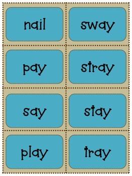 Long Vowel Diagraphs:  ai  and ay