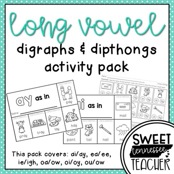 Long Vowel Diagraphs and Dipthongs Activity Pack