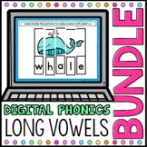 Long Vowel Digital Phonics Word Work BUNDLE Google Classro
