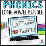 Long Vowel Digital Phonics Word Work BUNDLE Google Classro