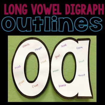 Long Vowel Digraph Outlines for Display and Interactive Notebooks