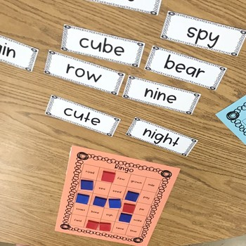 Long Vowel Digraphs | Sneaky E | Vowel Y Rhyming BINGO for Word Work and Phonics