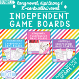 Long Vowel, Diphthong, and R-Controlled Vowel Independent Game Boards BUNDLE