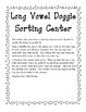 Long Vowel Doggie Sorting Center