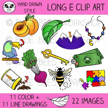 Long E Clip Art - 22 Pieces