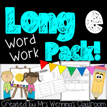 Long E (ee, ea) Pack! A Week of Lesson Plans, Word Work, and Activities!