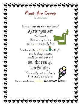 Long Vowel E Poem - Meet the Creep