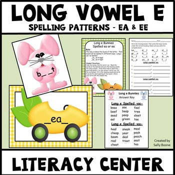 Long Vowel E Spelling Pattern