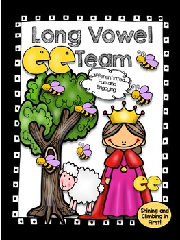 Long Vowel E Team Word Work Activities! - EE - No Prep! Just Print and Go!