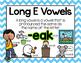 Long Vowel E Word Work {-eak Word Family}