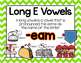 Long Vowel E Word Work {-eam Word Family}