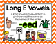 Long Vowel E Word Work {-eed Word Family}