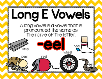 Long Vowel E Word Work {-eel Word Family}