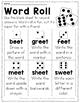 Long Vowel E Word Work {-eet Word Family}