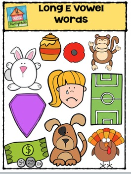 Long Vowel E Words {P4 Clips Trioriginals Digital Clip Art}