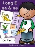 Long Vowel E (ee, ea) Clothespin Center
