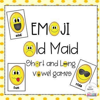 Short and Long Vowel Emoji Old Maid