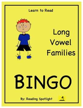 Long Vowel Families Bingo (LTR)