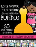 Long Vowel File Folder Games and Activities Bundle