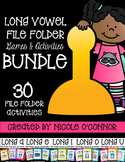 Long Vowel File Folder Games and Activities Bundle