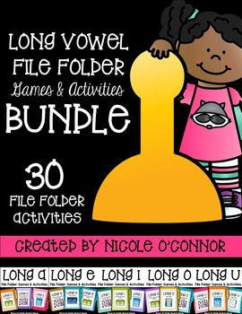 Long Vowel File Folder Games & Activities
