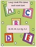 Long Vowel File Game and Word Sort