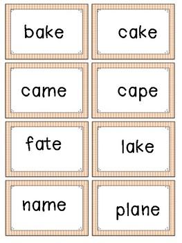 Long Vowel (Final E) Flash cards