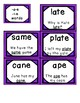 Long Vowel flashcards (word and decodable sentence on each card)