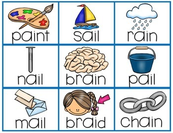 Long Vowel Flashcards with Pictures