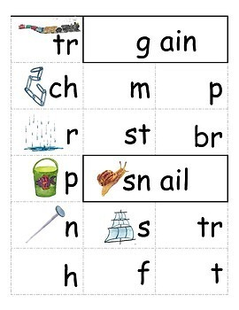 Long Vowel Rhyming Word Family Flip Books in Color and BW