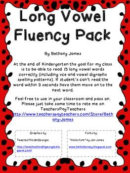 Long Vowel Fluency Pack