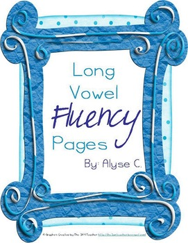 Long Vowel Fluency Pages