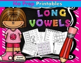 Long Vowel Fun! Activities and Printables