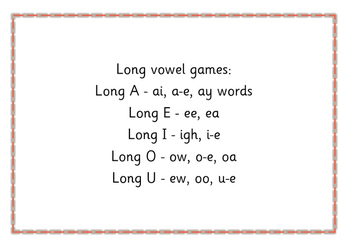 Long Vowel Games