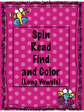 Long Vowel Games- Roll, Read, Find, and Color!