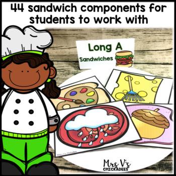 Long Vowel Hands On Center: Build a Sandwich
