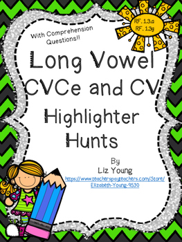 Long Vowel Highlighter Hunts