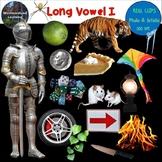 Long Vowel I Clip Art Phonics Set Photo & Artistic Digital Stickers