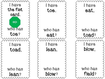Long Vowel I Have who has Freebie