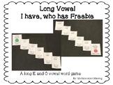 Long Vowel I Have who has Freebie