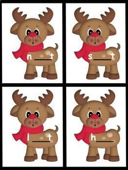 Phonics-Long Vowel I Combinations Christmas Reindeer Theme