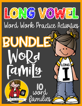 Long Vowel I Word Work {BUNDLE Word Family}