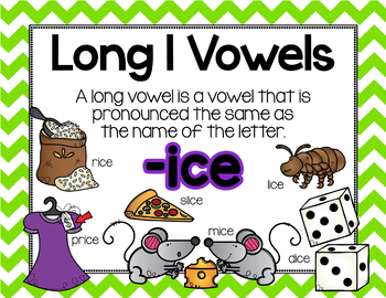 Long Vowel I Word Work {-ice Word Family}