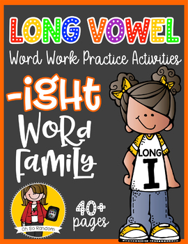 Long Vowel I Word Work {-ight Word Family}