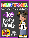 Long Vowel I Word Work {-ike Word Family}
